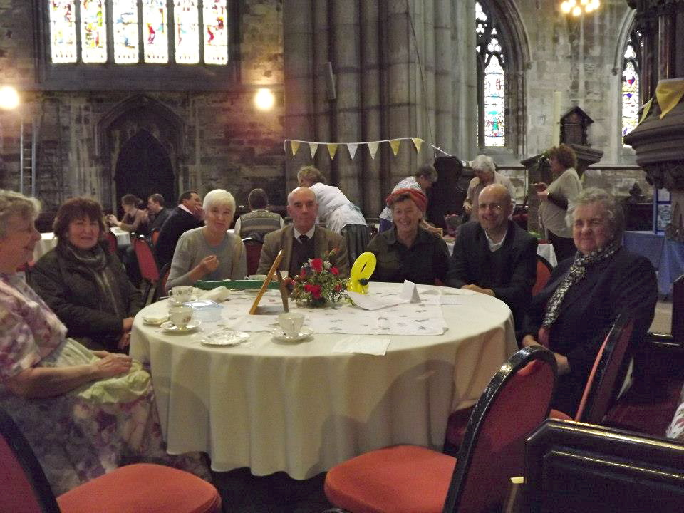 Taking tea at our Tea Under The Tower event