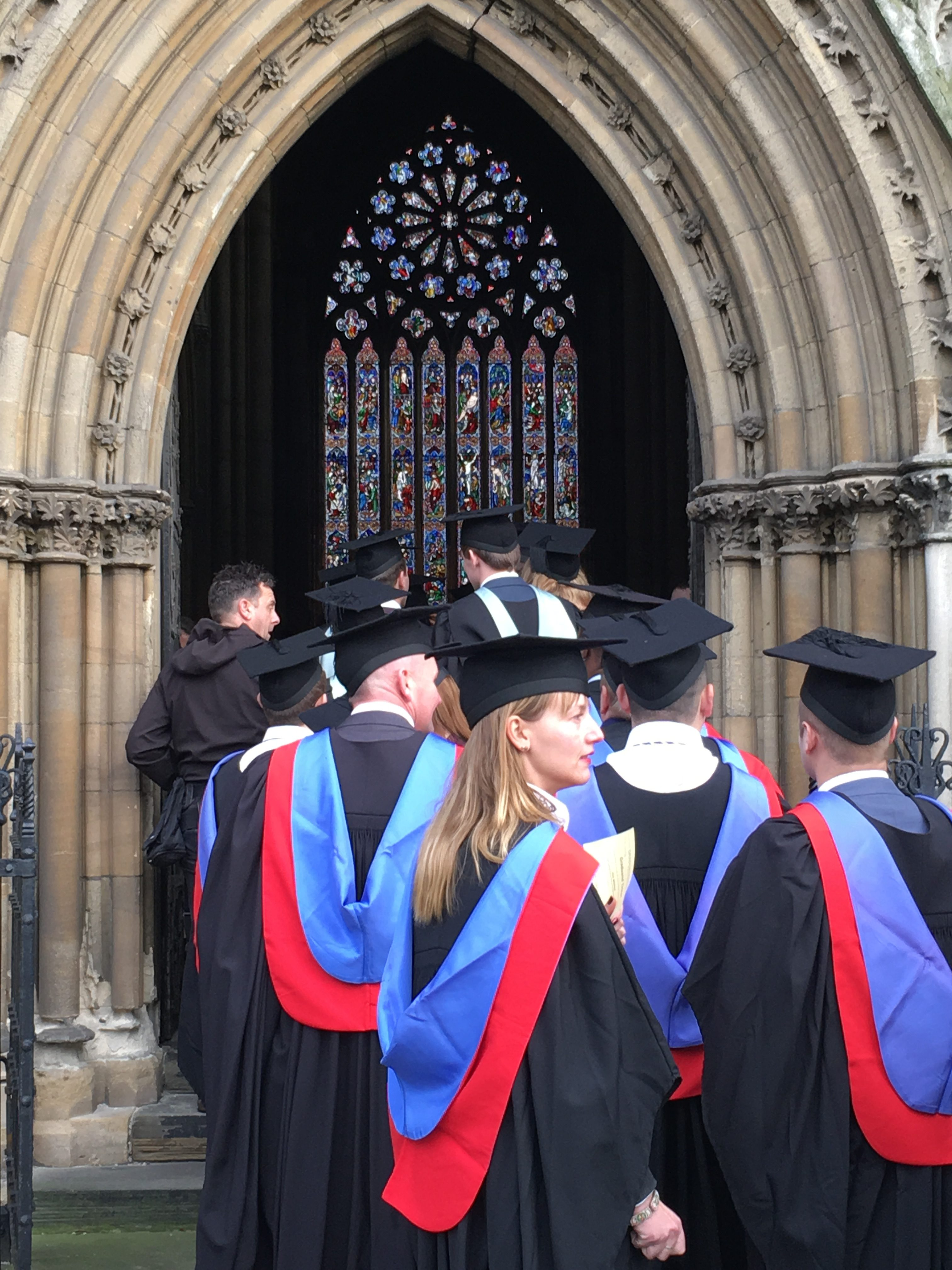 Doncaster College Students arriving at the Minster for Graduation ceremony