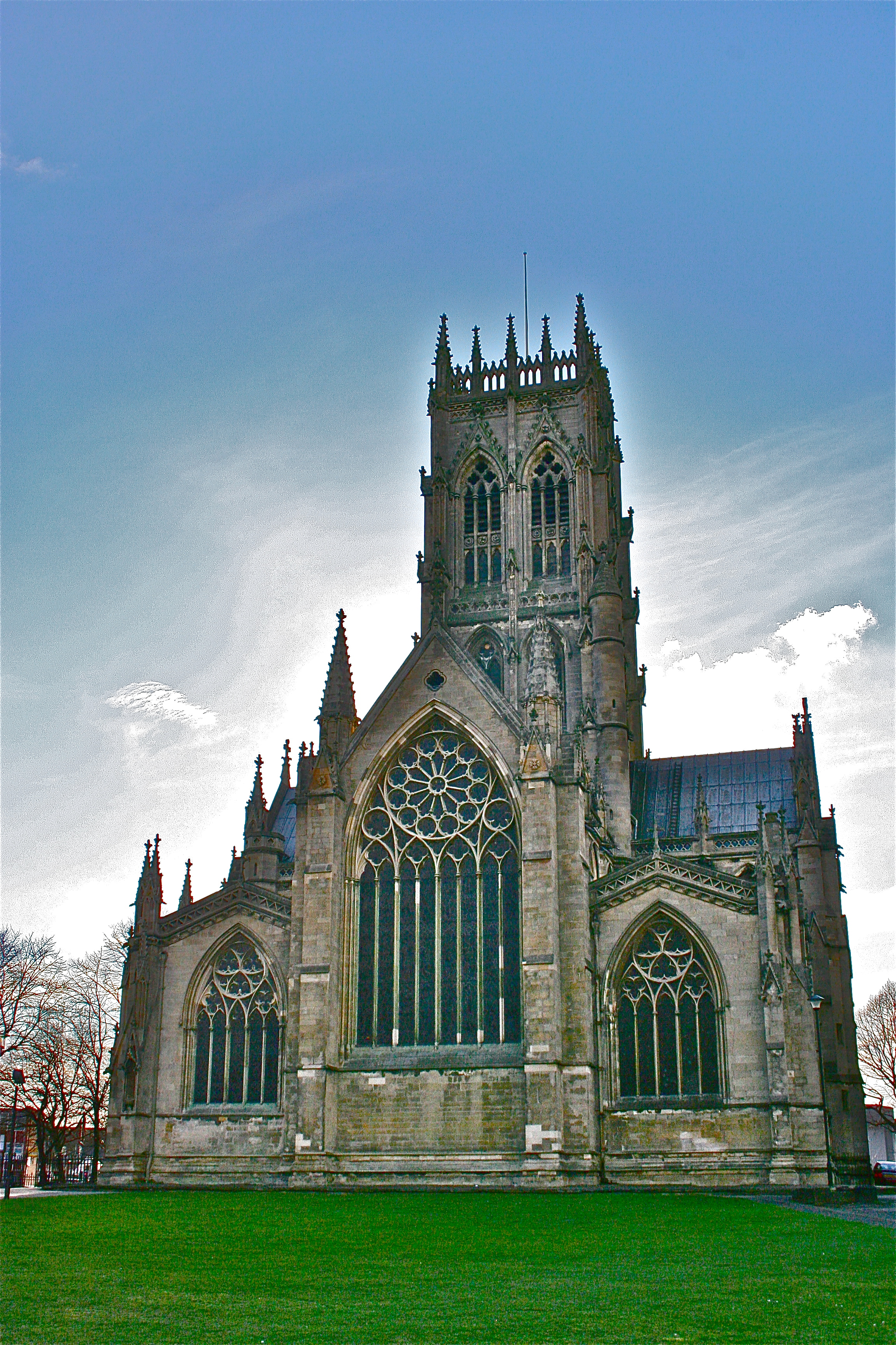 Doncaster Minster from the East Lawn