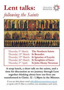 "Lent talks: following the Saints ""The Northern Saints"" @ Doncaster Minster | England | United Kingdom"